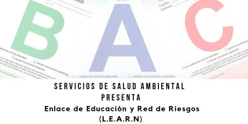 Clase Enlace de Educación y Red de Riesgos (LEARN) 19 de nov. 2:00PM-4:00