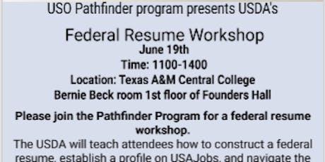 Federal Resume Workshop with USDA tickets