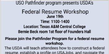 Federal Resume Workshop with USDA