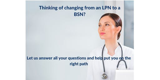 Lunch and Learn-  Calling all LPN's looking to enroll in the BSN program