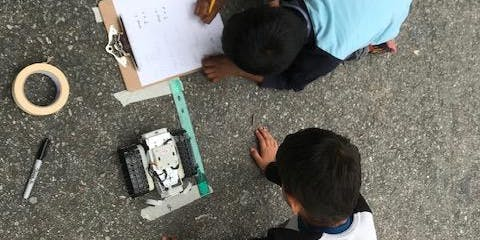 Robot building and math games