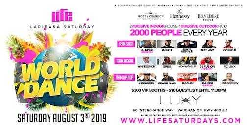 WORLD DANCE 2019 | CARIBANA SATURDAY AUGUST 3, 2019 INSIDE LUXY NIGHTCLUB