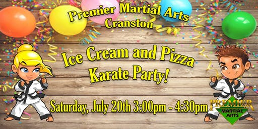 COMMUNITY ICE CREAM AND PIZZA KARATE PARTY