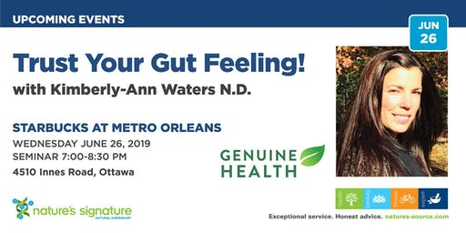 Nature's Signature Orleans Presents: FREE Lecture on Digestion and Your Microbiome with Genuine Health