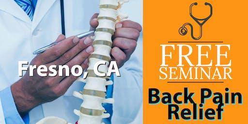 FREE Back Pain Relief Seminar - Fresno, CA