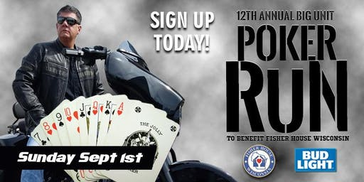 12th Annual Big Unit Poker Run (Benefiting Fisher House Wisconsin)