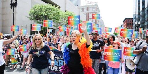 Democratic debate watch party for Warren