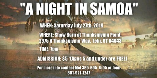 "Taualuga Productions Recital "" A Night in Samoa"""