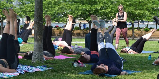 Free Westside Pilates Classes at Riverside Park