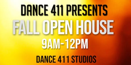 Dance 411: 2019 Fall Open House & Open House Week  tickets