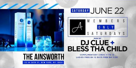 MEMBERS ONLY SATURDAYS WITH DJ CLUE JUNE 22ND tickets