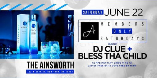 MEMBERS ONLY SATURDAYS WITH DJ CLUE JUNE 22ND