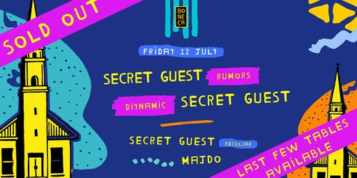 Boneca presents Secret Guests (Rumors, Diynamic, Peculiar) - SOLD OUT