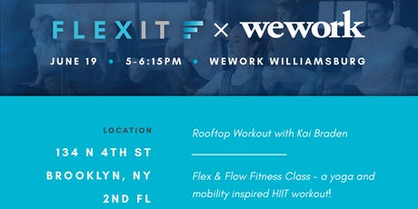 WeWork x FlexIt - NEW LOCATION - Brooklyn Athletic Club (8 Berry St) tickets