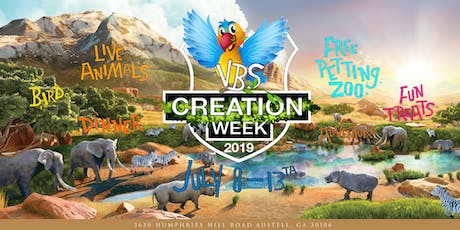VBS 2019 Creation Week | Animal Encounters tickets