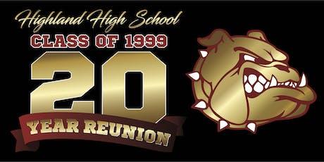 Highland High School Class of 1999 Twenty Year Reunion tickets