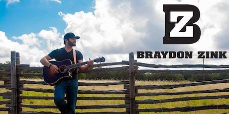 Braydon Zink tickets