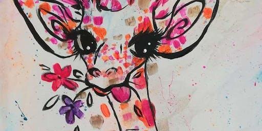Sassy Giraffe Paint Party