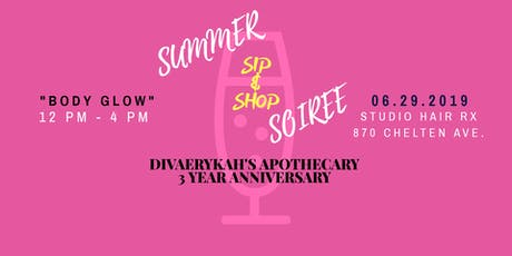 DivaErykah's Apothecary Summer Soiree Sip & Shop tickets