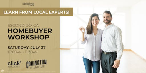 Free Escondido HomeBuyer Workshop: Learn from local experts!