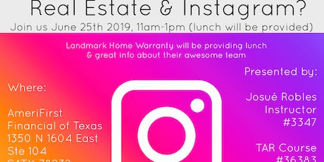 CE Class:  Real Estate & Instagram tickets
