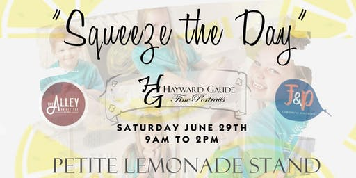Squeeze the Day!  Lemonade Stand Petite photo event!