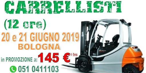 Corso PATENTINO MULETTISTA a BOLOGNA il 20 e 21 GIUGNO 2019.