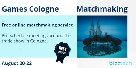Games Cologne  Matchmaking | August 20-22, 2019 Tickets