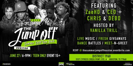 The Summer Jump-off CONTINUES w/ Zae HD & CEO and Chris and Debo! tickets