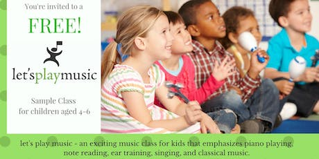 Let's Play Music Sample Class tickets