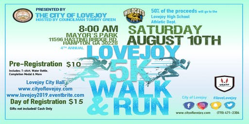 Lovejoy 5K Walk/ Run & Block Party