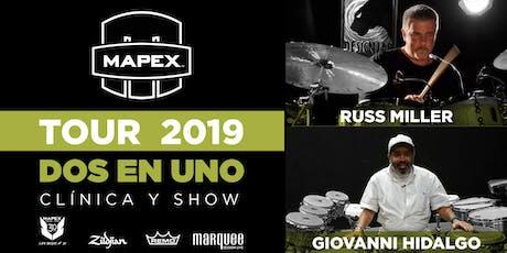 RUSS MILLER + GIOVANNI HIDALGO: Masterclass + SHOW  Lunes 9 Septiembre 2019 entradas
