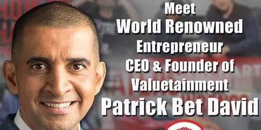 MEET PATRICK BET-DAVID ONE NIGHT ONLY!! LIVE IN OAKBROOK