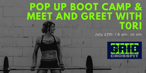 Pop Up Bootcamp and Meet and Greet