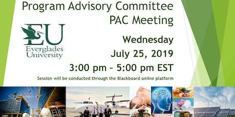 Program Advisory Committee Meeting tickets