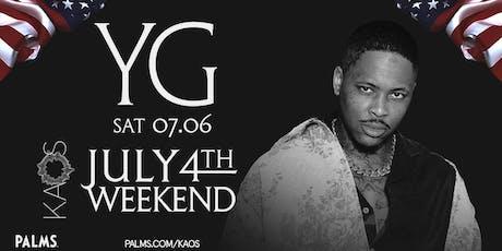 7.6 YG July 4th Weekend Party @ KAOS Nightclub Las Vegas tickets
