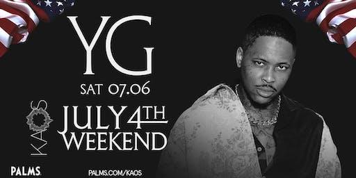 7.6 YG July 4th Weekend Party @ KAOS Nightclub Las Vegas
