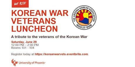 Korean War Veterans Luncheon tickets