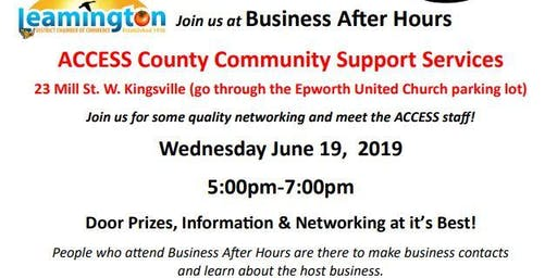 Business After Hours- ACCESS County Community Support Services