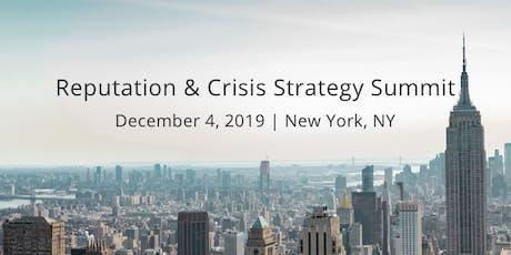 Reputation & Crisis Strategy Summit 2019 tickets
