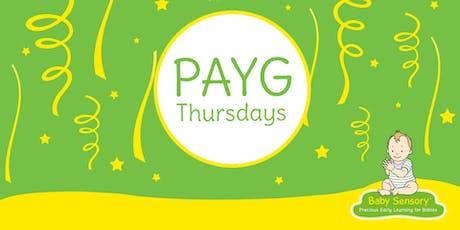 Baby Sensory Barnstaple PAYG tickets