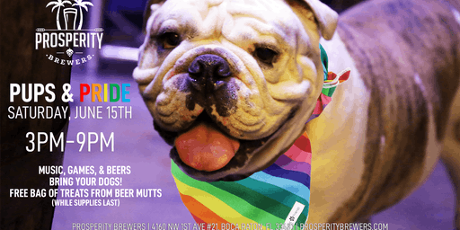 Pups & Pride at Prosperity Brewers