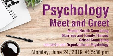 Psychology Meet and Greet - Prospective Students entradas