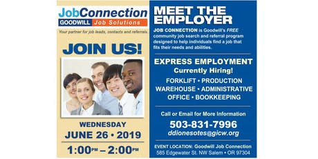 Hiring Event - West Salem - 6/26/19 tickets