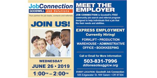 Hiring Event - West Salem - 6/26/19