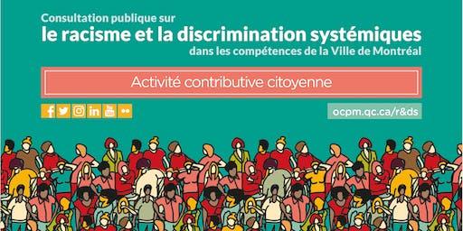 ACC de l'OCPM sur le racisme et la discrimination systémiques