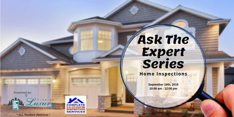 Ask the Expert Series, Albert Cooke, Complete Home Inspections tickets