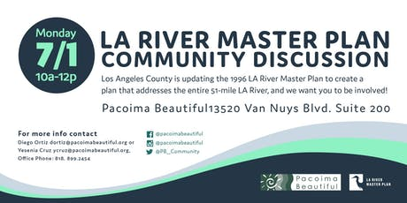 LA River Master Plan Community Discussion tickets