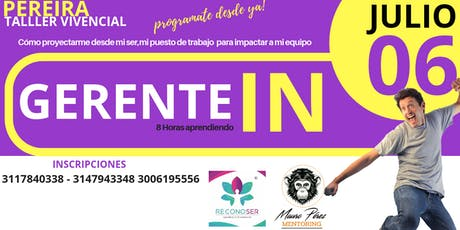 GERENTE In   Taller Vivencial tickets