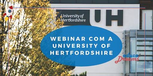 Webinar com University of Hertfordshire